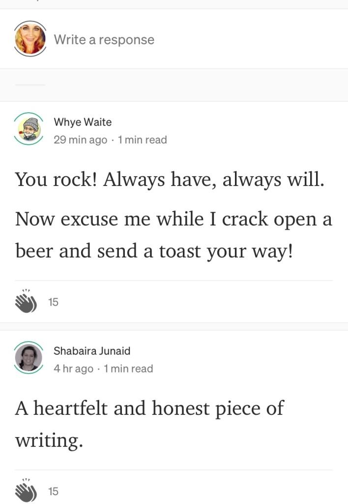 Good reviews from readers on Medium
