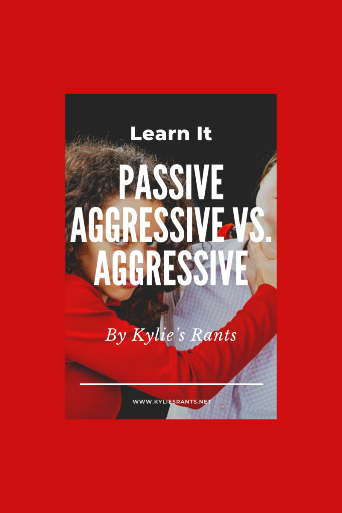 A woman showing aggressive behavior while a man shows passive aggressive response.