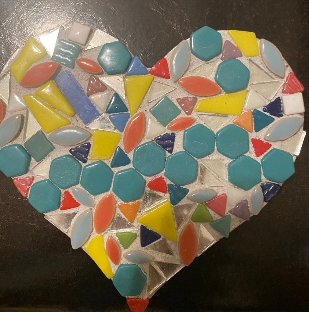 A heart shaped mosaic  To help my friend with the passing of her mother