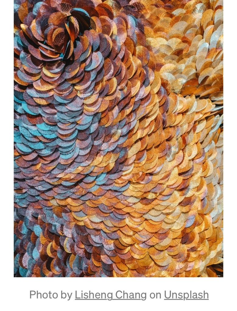 Beautiful artwork that resembles money.